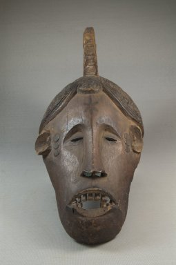 Nupe. <em>Maiden Spirit Mask (Agbogho Mmuo)</em>, 19th century. Wood, pigment, 14 1/2 x 6 1/4 x 8 1/4in. (36.8 x 15.9 x 21cm). Brooklyn Museum, Museum Expedition 1922, Robert B. Woodward Memorial Fund, 22.823. Creative Commons-BY (Photo: Brooklyn Museum, CUR.22.823_front_PS5.jpg)