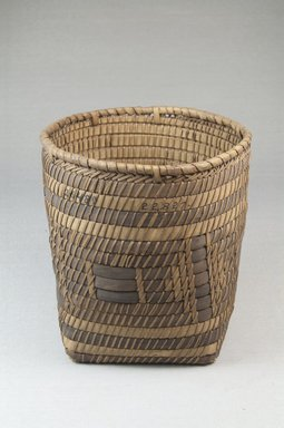 <em>Planter Basket</em>, early 20th century. Vegetal fiber, cane, raffia, 5 1/8 x 4 15/16 x 4 15/16 in. (13 x 12.5 x 12.5 cm). Brooklyn Museum, Museum Expedition 1922, Robert B. Woodward Memorial Fund, 22.827. Creative Commons-BY (Photo: Brooklyn Museum, CUR.22.827_front_PS5.jpg)