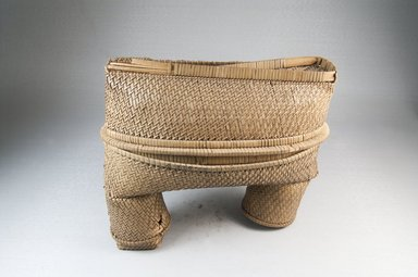 <em>Oblong Shaped Basket</em>, early 20th century. Vegetal Fiber, (21.0 x 10.5 cm). Brooklyn Museum, Museum Expedition 1922, Robert B. Woodward Memorial Fund, 22.828a-b. Creative Commons-BY (Photo: Brooklyn Museum, CUR.22.828a-b_assembled_PS5.jpg)