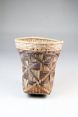 <em>Cup-shaped Basket</em>, early 20th century. Vegetal fiber, height: (11.5 cm). Brooklyn Museum, Museum Expedition 1922, Robert B. Woodward Memorial Fund, 22.829. Creative Commons-BY (Photo: Brooklyn Museum, CUR.22.829_front_PS5.jpg)