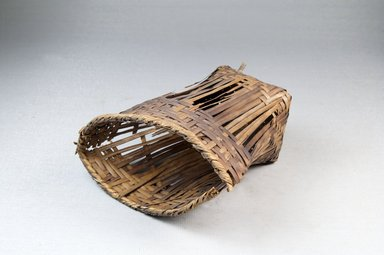 <em>Cup-shaped Basket</em>, early 20th century. Vegetal fiber, cane, raffia, height:(11.0 cm). Brooklyn Museum, Museum Expedition 1922, Robert B. Woodward Memorial Fund, 22.830. Creative Commons-BY (Photo: Brooklyn Museum, CUR.22.830_threequarter_PS5.jpg)