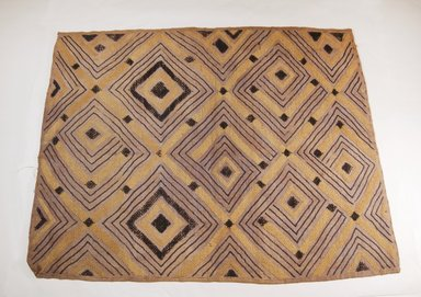Ngongo. <em>Raffia Cloth</em>, 19th century. Raffia, 28 1/4 x 21 1/2 in. (72.0 x 55.0 cm). Brooklyn Museum, Museum Expedition 1922, Robert B. Woodward Memorial Fund, 22.990. Creative Commons-BY (Photo: Brooklyn Museum, CUR.22.990_top_PS5.jpg)