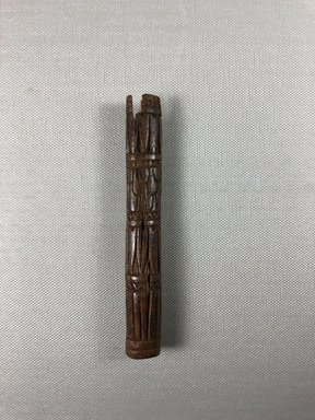 <em>Kohl Tube</em>, ca. 1352-1336 B.C.E. Wood, paste, 5 1/16 × Diam. 5/8 in. (12.9 × 1.6 cm). Brooklyn Museum, Gift of the Egypt Exploration Society, 22.9. Creative Commons-BY (Photo: , CUR.22.9_view01.jpg)