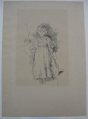 James Abbott McNeill Whistler (American, 1834-1903). <em>Little Evelyn</em>, 1896. Lithograph, 12 5/8 x 8 15/16 in. (32.1 x 22.7 cm). Brooklyn Museum, Purchased with funds given by Edward C. Blum, 23.239 (Photo: Brooklyn Museum, CUR.23.239.jpg)