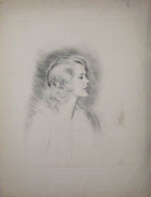 Paul-César Helleu (French, 1859-1927). <em>Marilyn Miller</em>. Drypoint on wove paper, 19 7/8 x 15 3/4 in. (50.5 x 40 cm). Brooklyn Museum, Gift of Edward C. Blum, 23.283.1 (Photo: Brooklyn Museum, CUR.23.283.1.jpg)