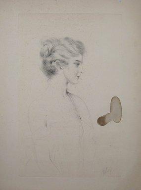 Paul-César Helleu (French, 1859-1927). <em>Portrait of Lillian Gish</em>. Drypoint on wove paper, 19 7/8 x 15 3/4 in. (50.5 x 40 cm). Brooklyn Museum, Gift of Edward C. Blum, 23.283.2 (Photo: Brooklyn Museum, CUR.23.283.2.jpg)