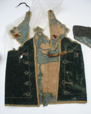 <em>Armor (Jacket Worn under Armor)</em>. Velvet, 26 3/4 × 17 11/16 in. (68 × 45 cm). Brooklyn Museum, Museum Expedition 1913-1914, Museum Collection Fund, 23167. Creative Commons-BY (Photo: Brooklyn Museum, CUR.23167.jpg)