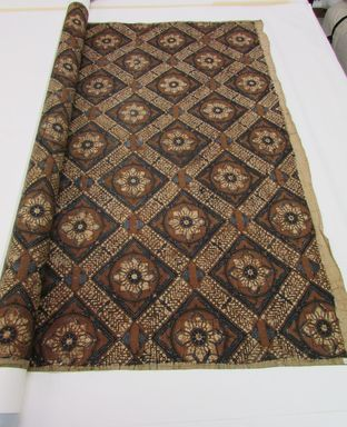 <em>Batik</em>. Cotton, 39 3/8 x 92 15/16 in. (100 x 236 cm). Brooklyn Museum, Ella C. Woodward Memorial Fund, 24.264. Creative Commons-BY (Photo: , CUR.24.264_overall.jpg)