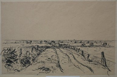 John von Wicht (American, born Germany, 1888-1970). <em>Holland Pastures</em>, 1922. Ink on paper, sheet: 9 7/16 x 15 in. (24 x 38.1 cm). Brooklyn Museum, Caroline H. Polhemus Fund, 24.440 (Photo: Brooklyn Museum, CUR.24.440.jpg)