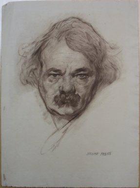 Jerome Myers (American, 1867-1940). <em>Self Portrait</em>, ca. 1920. Chalk on laid paper, Sheet: 16 5/16 x 12 in. (41.4 x 30.5 cm). Brooklyn Museum, Caroline H. Polhemus Fund, 24.551. © artist or artist's estate (Photo: Brooklyn Museum, CUR.24.551.jpg)