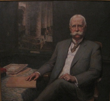 Wilford S. Conrow (American, 1880-1957). <em>Professor William H. Goodyear</em>, 1916. Oil on canvas, 42 1/8 x 45 7/8 in. (107 x 116.5 cm). Brooklyn Museum, Gift of Professor Arthur Kingsley Porter, 25.182 (Photo: , CUR.25.182.jpg)