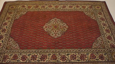 <em>Medium Sized Rectangular Mat</em>, 19th century. Cotton, 36 x 54 5/16 in. (91.5 x 138 cm). Brooklyn Museum, Frederick Loeser Fund, 25.784. Creative Commons-BY (Photo: Brooklyn Museum, CUR.25.784.jpg)