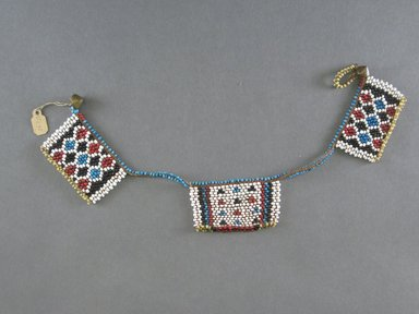 Zulu. <em>Neck Ornament</em>, late 19th to early 20th century., 1 3/4 x 15 3/8 in. (4.5 x 39 cm). Brooklyn Museum, Gift of Robert Sharp Kunkel, 25.794.1. Creative Commons-BY (Photo: Brooklyn Museum, CUR.25.794.1.jpg)