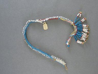 Zulu. <em>Collar, 1 of 2</em>. Glass beads, fiber Brooklyn Museum, Gift of Robert Sharp Kunkel, 25.794.2. Creative Commons-BY (Photo: Brooklyn Museum, CUR.25.794.2_overall.jpg)