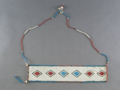 Zulu. <em>Neck Ornament (Ulimi)</em>, 19th century. Glass beads, natural fibre, 12 1/4 x 2 13/16 in. (31.1 x 7.2 cm). Brooklyn Museum, Gift of Robert Sharp Kunkel, 25.801. Creative Commons-BY (Photo: Brooklyn Museum, CUR.25.801_overall.jpg)