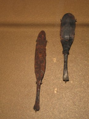 <em>Knife Blade</em>, ca. 1353-1329 B.C.E. Bronze, 13/16 x 3 3/4 in. (2 x 9.6 cm). Brooklyn Museum, Gift of the Egypt Exploration Society, 25.848. Creative Commons-BY (Photo: , CUR.25.848_25.849_erg456.jpg)