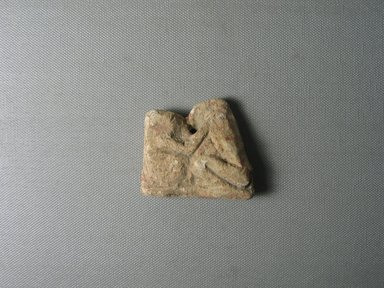 <em>Group of Two Apes Kissing</em>, ca. 1352-1336 B.C.E. Limestone, pigment, 2 1/8 × 11/16 × 2 3/8 in. (5.4 × 1.7 × 6.1 cm). Brooklyn Museum, Gift of the Egypt Exploration Society, 25.886.10. Creative Commons-BY (Photo: , CUR.25.886.10_view01.jpg)