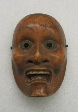 Kotobide Yukan. <em>Theatrical Mask</em>. Wood, gesso, polychrome, 8 1/4 x 5 11/16 x 3 15/16 in. (21 x 14.5 x 10 cm). Brooklyn Museum, Museum Collection Fund, 25.909. Creative Commons-BY (Photo: Brooklyn Museum, CUR.25.909_view1.jpg)