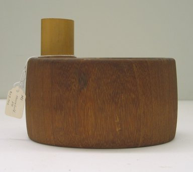 <em>Container</em>. Wood, metal, 5 1/2 x 7 1/16 x 5 11/16 in. (14 x 18 x 14.5 cm). Brooklyn Museum, Gift of Mrs. Alan Cowperthwait, 25.910.2. Creative Commons-BY (Photo: Brooklyn Museum, CUR.25.910.2_view2.jpg)