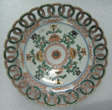 <em>Plate</em>, 1740-1750. Ceramic, 1 5/16 x 8 in. (3.3 x 20.3 cm). Brooklyn Museum, Bequest of Reverend Alfred Duane Pell, 26.36. Creative Commons-BY (Photo: Brooklyn Museum, CUR.26.36_top.jpg)