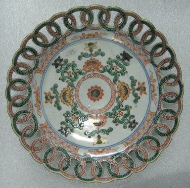 <em>Plate</em>, 1740-1750. Ceramic, 1 5/16 x 8 in. (3.3 x 20.3 cm). Brooklyn Museum, Bequest of Reverend Alfred Duane Pell, 26.36. Creative Commons-BY (Photo: Brooklyn Museum, CUR.26.36_top.jpg)