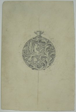 Frederick John Beck (American, 1864-1917). <em>Watch-case Design</em>. Graphite on paper, 4 7/16 x 2 15/16 in. (11.3 x 7.5 cm). Brooklyn Museum, Gift of Herbert F. Beck and Frederick Lorenze Beck, 26.515.100. Creative Commons-BY (Photo: Brooklyn Museum, CUR.26.515.100.jpg)