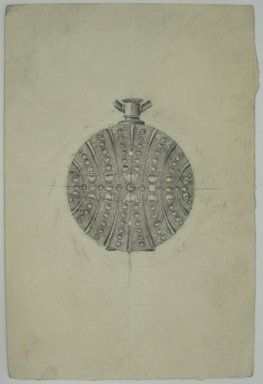 Frederick John Beck (American, 1864-1917). <em>Watch-case Design</em>. Graphite on paper, 4 7/16 x 3 in. (11.3 x 7.6 cm). Brooklyn Museum, Gift of Herbert F. Beck and Frederick Lorenze Beck, 26.515.101. Creative Commons-BY (Photo: Brooklyn Museum, CUR.26.515.101.jpg)