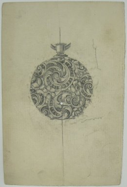Frederick John Beck (American, 1864-1917). <em>Watch-case Design</em>. Graphite on paper, 4 7/16 x 2 7/8 in. (11.3 x 7.3 cm). Brooklyn Museum, Gift of Herbert F. Beck and Frederick Lorenze Beck, 26.515.103. Creative Commons-BY (Photo: Brooklyn Museum, CUR.26.515.103.jpg)