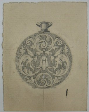 Frederick John Beck (American, 1864-1917). <em>Watch-case Design</em>. Graphite on paper, 2 15/16 x 2 1/4 in. (7.5 x 5.7 cm). Brooklyn Museum, Gift of Herbert F. Beck and Frederick Lorenze Beck, 26.515.31. Creative Commons-BY (Photo: Brooklyn Museum, CUR.26.515.31.jpg)