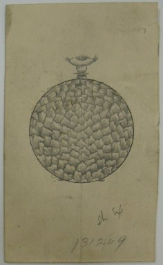 Frederick John Beck (American, 1864-1917). <em>Watch-case Design</em>. Graphite and ink on paper, 3 3/4 x 2 1/4 in. (9.5 x 5.7 cm). Brooklyn Museum, Gift of Herbert F. Beck and Frederick Lorenze Beck, 26.515.46. Creative Commons-BY (Photo: Brooklyn Museum, CUR.26.515.46.jpg)