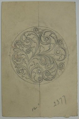 Frederick John Beck (American, 1864-1917). <em>Watch-case Design</em>. Graphite on paper, 3 15/16 x 2 1/2 in. (10 x 6.4 cm). Brooklyn Museum, Gift of Herbert F. Beck and Frederick Lorenze Beck, 26.515.48. Creative Commons-BY (Photo: Brooklyn Museum, CUR.26.515.48.jpg)