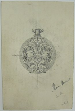 Frederick John Beck (American, 1864-1917). <em>Watch-case Design</em>. Graphite on paper, 4 7/16 x 2 15/16 in. (11.3 x 7.5 cm). Brooklyn Museum, Gift of Herbert F. Beck and Frederick Lorenze Beck, 26.515.70. Creative Commons-BY (Photo: Brooklyn Museum, CUR.26.515.70.jpg)