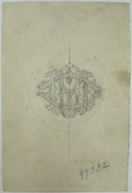 Frederick John Beck (American, 1864-1917). <em>Watch-case Design</em>. Graphite on paper, 4 3/8 x 2 15/16 in. (11.1 x 7.5 cm). Brooklyn Museum, Gift of Herbert F. Beck and Frederick Lorenze Beck, 26.515.76. Creative Commons-BY (Photo: Brooklyn Museum, CUR.26.515.76.jpg)