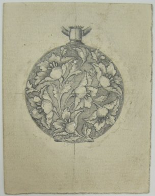 Frederick John Beck (American, 1864-1917). <em>Watch-case Design</em>. Graphite on paper, 2 15/16 x 2 1/4 in. (7.5 x 5.7 cm). Brooklyn Museum, Gift of Herbert F. Beck and Frederick Lorenze Beck, 26.515.78. Creative Commons-BY (Photo: Brooklyn Museum, CUR.26.515.78.jpg)