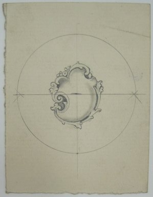 Frederick John Beck (American, 1864-1917). <em>Watch-case Design</em>. Graphite on paper, 2 15/16 x 2 1/4 in. (7.5 x 5.7 cm). Brooklyn Museum, Gift of Herbert F. Beck and Frederick Lorenze Beck, 26.515.81. Creative Commons-BY (Photo: Brooklyn Museum, CUR.26.515.81.jpg)