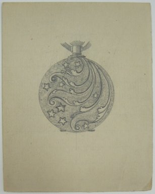 Frederick John Beck (American, 1864-1917). <em>Watch-case Design</em>. Graphite on paper, 3 1/2 x 2 3/4 in. (8.9 x 7 cm). Brooklyn Museum, Gift of Herbert F. Beck and Frederick Lorenze Beck, 26.515.82. Creative Commons-BY (Photo: Brooklyn Museum, CUR.26.515.82.jpg)
