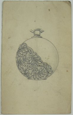 Frederick John Beck (American, 1864-1917). <em>Watch-case Design</em>. Graphite on paper, 3 15/16 x 2 7/16 in. (10 x 6.2 cm). Brooklyn Museum, Gift of Herbert F. Beck and Frederick Lorenze Beck, 26.515.84. Creative Commons-BY (Photo: Brooklyn Museum, CUR.26.515.84.jpg)