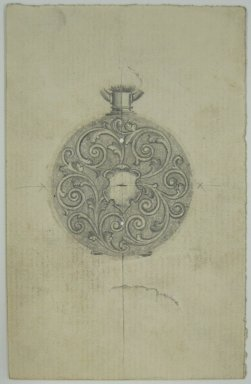 Frederick John Beck (American, 1864-1917). <em>Watch-case Design</em>. Graphite on paper, 3 15/16 x 2 1/2 in. (10 x 6.4 cm). Brooklyn Museum, Gift of Herbert F. Beck and Frederick Lorenze Beck, 26.515.89. Creative Commons-BY (Photo: Brooklyn Museum, CUR.26.515.89.jpg)