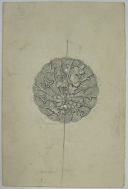 Frederick John Beck (American, 1864-1917). <em>Watch-case Design</em>. Graphite on paper, 4 7/16 x 2 15/16 in. (11.3 x 7.5 cm). Brooklyn Museum, Gift of Herbert F. Beck and Frederick Lorenze Beck, 26.515.93. Creative Commons-BY (Photo: Brooklyn Museum, CUR.26.515.93.jpg)