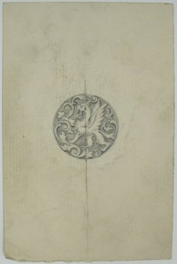 Frederick John Beck (American, 1864-1917). <em>Watch-case Design</em>. Graphite on paper, 4 7/16 x 2 15/16 in. (11.3 x 7.5 cm). Brooklyn Museum, Gift of Herbert F. Beck and Frederick Lorenze Beck, 26.515.96. Creative Commons-BY (Photo: Brooklyn Museum, CUR.26.515.96.jpg)