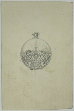 Frederick John Beck (American, 1864-1917). <em>Watch-case Design</em>. Graphite on paper, 4 7/16 x 2 15/16 in. (11.3 x 7.5 cm). Brooklyn Museum, Gift of Herbert F. Beck and Frederick Lorenze Beck, 26.515.97. Creative Commons-BY (Photo: Brooklyn Museum, CUR.26.515.97.jpg)