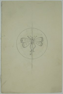 Frederick John Beck (American, 1864-1917). <em>Watch-case Design</em>. Graphite on paper, 4 7/16 x 3 in. (11.3 x 7.6 cm). Brooklyn Museum, Gift of Herbert F. Beck and Frederick Lorenze Beck, 26.515.98. Creative Commons-BY (Photo: Brooklyn Museum, CUR.26.515.98.jpg)