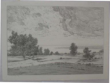 Bolton Coit Brown (American, 1864-1936). <em>The Great River</em>, n.d. Lithograph, Sheet: 9 13/16 x 13 1/4 in. (25 x 33.6 cm). Brooklyn Museum, Gift of Mrs. A. Augustus Healy, 26.541 (Photo: Brooklyn Museum, CUR.26.541.jpg)