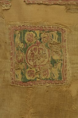 Coptic. <em>Tunic Fragment with Animal and Botanical Decoration</em>, 6th century C.E. Flax, wool