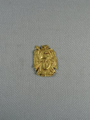 Roman. <em>Head in Repousse</em>, 4th-3rd century B.C.E. Gold, 1 x 3/4 in. (2.6 x 2 cm). Brooklyn Museum, Gift of George D. Pratt, 26.770. Creative Commons-BY (Photo: Brooklyn Museum, CUR.26.770_view1.jpg)