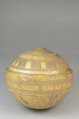 <em>Covered Bowl</em>, before 1922. Gourd Brooklyn Museum, 26403. Creative Commons-BY (Photo: Brooklyn Museum, CUR.26403_front_PS5.jpg)