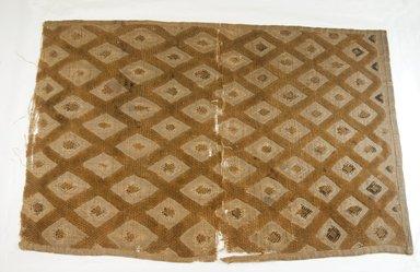 Kuba. <em>Raffia Cloth</em>. Embroidered Raffia cloth Brooklyn Museum, 26521. Creative Commons-BY (Photo: Brooklyn Museum, CUR.26521_top_PS5.jpg)