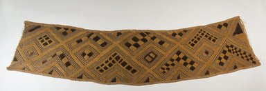 Kuba. <em>Raffia Cloth</em>. Embroidered Raffia cloth, 8 x 33 3/4 in. (20.3 x 85.7 cm). Brooklyn Museum, 26549. Creative Commons-BY (Photo: Brooklyn Museum, CUR.26549_478.44.36_top_PS5.jpg)