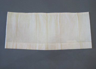 <em>Skirt to Doll's Washstand</em>, 1830. Cotton, 8 x 18 1/4 in. (20.3 x 46.4 cm). Brooklyn Museum, Gift of Mrs. Henry W. Payne, 27.83 (Photo: Brooklyn Museum, CUR.27.83.jpg)