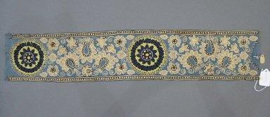 <em>New Embroidery Specimen</em>, early 20th century. Silk, silk thread, 5 x 26 in. (12.7 x 66 cm). Brooklyn Museum, 27288. Creative Commons-BY (Photo: Brooklyn Museum, CUR.27288.jpg)